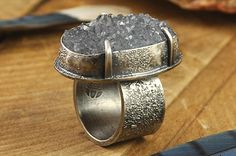 Handcrafted rings fabricated and forged from copper, sterling silver, and/or gold.