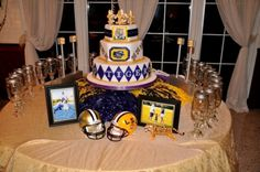 [LSU & Saints -  Rotating Grooms Cake]