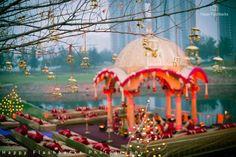 Looking for destination wedding mandap decor? Browse of latest bridal photos, lehenga & jewelry designs, decor ideas, etc. on WedMeGood Gallery. Wedding Mandap, Wedding Venues, Wedding Ideas, Wedding Themes, Diy Wedding, Wedding Styles, Wedding Inspiration, Wedding Colours, Wedding Crafts