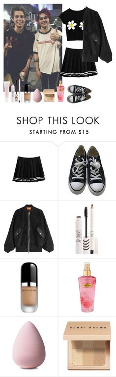 """""""Backstage with Luke and michael"""" by boybandsets ❤ liked on Polyvore featuring Converse, Alexander Wang, Topshop, Marc Jacobs, Victoria's Secret, Bobbi Brown Cosmetics, Lancôme, 5sos, michaelclifford and lukehemmings"""
