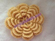 PATTERN PT026 - Crochet Flower Pattern - Five Layers Flower, Flower Pattern