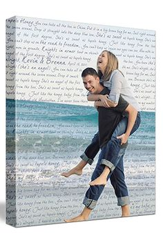 a very sweet keepsake - hang one of your engagement photos in your master bedroom. #customcanvas