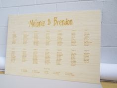 Classic Wedding Invitations - Indie Wooden Seating Chart