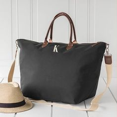 Cathy s Concepts Black Microfiber Weekender Tote e468a17b640f0