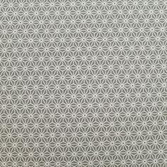 Tissu japonais coton gris motifs asanoha écru (110cm x 50cm) : Tissus à thème par couleurs-japon