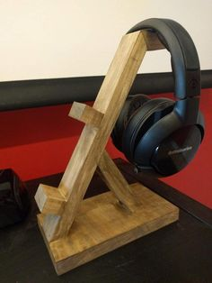 This controller and headphone stand is uniquely handmade! They make great gifts for any occasion. 1 controller stand is Wide, inches. Depth 2 controller stand is Wide, in. Depth 3 controller stand is wide, Diy Headphone Stand, Headphone Storage, Headphone Splitter, Headphone Holder, Woodworking Bed, Woodworking Projects, Woodworking Classes, Woodworking Chisels, Headset Holder