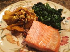 Salmon, Broccoli Rabe, And Golden Beets With Walnuts And Bleu Cheese: 2/6/14