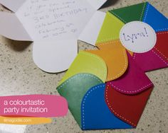Free printable colourful party invitation