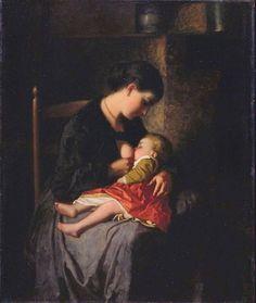 "Eastman Johnson, ""The Mother"""