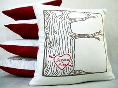 DIY get a white canvas pillow cover and do your own sketch with fabric markers