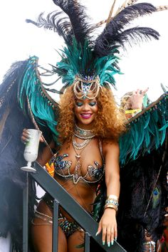 Rihanna at the Kadooment Day Festival in Barbados for Cropover 2015