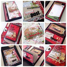 Erinnerungsbox Minialbum von Michelle | crela.ch für #WeihnachtenKannKommen www.danipeuss.de