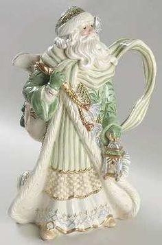 Fitz and Floyd Gregorian Christmas Santa Figurine Pitcher NIB Discontinued   eBay