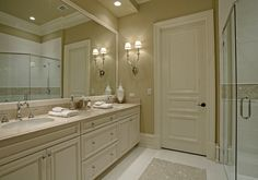 This gallery hosted by SmugMug; your photos look better here. Mediterranean House Plans, Dream Bathrooms, Classic House, Photo Look, Comfort Zone, Double Vanity, Sweet Home, Contemporary, Mansions