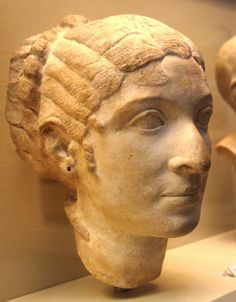 portrait bust of Queen Cleopatra VII on display in the British Museum.