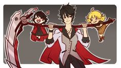 To see young uncle Qrow and his baby neices is all I've ever wanted from this life.