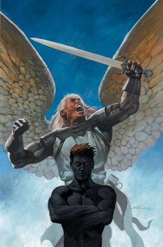 File:Lucifer Vol 1 32 Textless. Dc Comics, Comics Story, Comic Book Characters, Comic Character, Character Design, Comic Books, Samael Angel, Vertigo Comics, Demonology