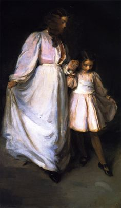 Dorothea and Francesca (Cecilia Beaux - 1898) Also known as the Dancing Lesson