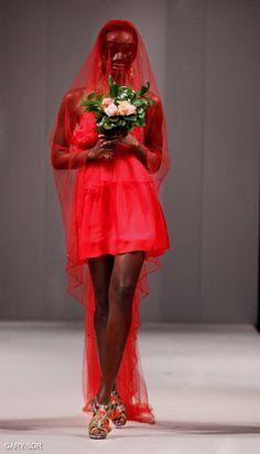 Little Red Bride - Hendrik Vermeulen Couture - Carnival Collection 2010 Couture, Little Red, Carnival, Ballet Skirt, Bride, Skirts, Collection, Fashion, Wedding Bride