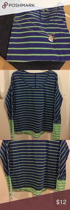 💚multi colored top💚 Brand new original tag partially still attached. In excellent condition. Has a scoop neckline. Goes great with a pair of dark jeans. Let me know if you have any questions. I do great bundle prices just submit your offer. Thanks so much and happy shopping 💕🙂🛍 Arizona Jean Company Tops
