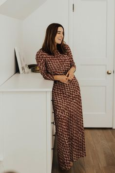 Around the house in one of my most favorite maxi dresses from Doen...