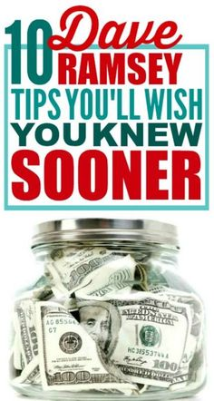 10 Dave Ramsey Tips That'll Help You Get Out of Debt These Dave Ramsey Tips are really good! I'm happy I found these budget Dave Ramsey tips! Now I have some great money saving ideas! Living On A Budget, Frugal Living Tips, Frugal Tips, Debt Free Living, Simple Living, Ways To Save Money, Money Tips, Money Saving Tips, Money Budget