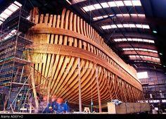 "Wooden Ship Building - East-Indiaman replica ""Göteborg"", Sweden"