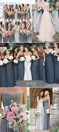 shades of grey bridesmaid dresses 2015 trends