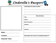 lesson plans cinderella speakaboos worksheets fairytale fable rh pinterest com