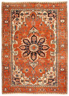 Antique Serapi Carpet 9.2 X 12.8 - Fred Moheban Gallery