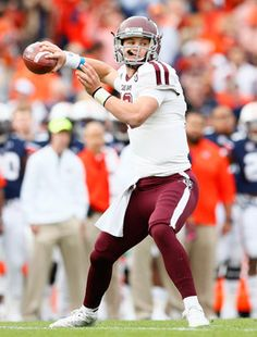 The thrill of Aggie victory and the faces of Auburn's defeat on Nov. 8, 2014 at Jordan Hare Stadium in Auburn, Alabama. #10 Kyle Allen threw 4 TD passes. He's the Aggies' new QB star. Defensively, the Aggies made clutch plays when they needed to. #Aggies #Aggiefootball #examinercom