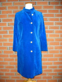 PERFECT COAT FOR BURNING MAN / FESTIVALS!!! Gorgeous 1960s/70s Velvet Blue Coat/Perfect by VintageEclectica, $128.00