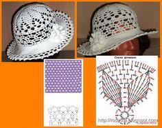 17 best sombreros a crochet images on hat Crochet Baby Dress Free Pattern, Crochet Motif, Crochet Yarn, Crochet Patterns, Crochet Hooded Scarf, Crochet Beanie, Spring Hats, Summer Hats, Crochet Kids Hats