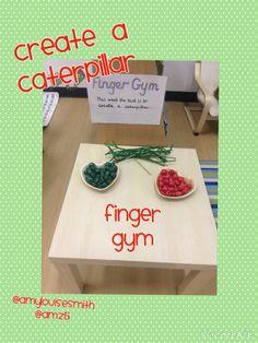 Caterpillar threading finger gym