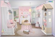 Candy Covered nursery & kids room (Free + Pay) at SIMcredible! Designs 4 via Sims 4 Updates (Children Furniture Designs) Sims 3, Mods Sims 4, Sims 4 Game, Kids Bedroom Furniture Design, Sims 4 Cc Furniture, Toddler Furniture, Furniture Buyers, Furniture Ideas, Children Furniture