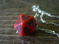 dragon necklace dungeons and dragons pendant dice necklace dice jewelry necklace red dragon pendant by MageStudio on Etsy D20 Dice, Dragon Dies, Dragon Necklace, Elvish, Dragon Pendant, Red Dragon, Dungeons And Dragons, Cufflinks, Chain