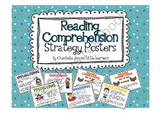 Reading Comprehension Strategy Posters from Ms Jacobs Little Learners on TeachersNotebook.com (8 pages)  - Reading Comprehension Strategy Posters