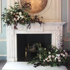 The Home of Flowers in Surrey - Award Winning Artisan Florist delivering across Surrey from our store in Banstead Wedding Fireplace, Fireplace Mantle, Fireplace Decorations, Large Floral Arrangements, Wedding Arrangements, Flower Installation, British Flowers, Living Room Redo, Fresh Flower Delivery