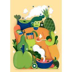 fonzy nils (alfonso cirillo) #illustration #design #fricotemagazine #magazine #editorial #food #drawing #junkfood #illo #picame #yellow #italian
