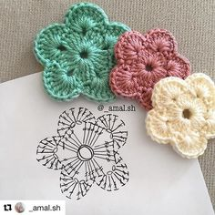 Beautiful crochet flower