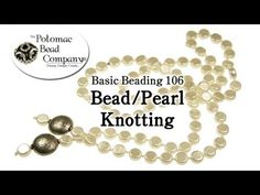 This tutorial from the Potomac Bead Company shows you how to knot pearls or beads using your beads of choice and griffin silk cording. Knotting beads or pearl knotting in a necklace or bracelet spaces the beads or pearls out, and also will securely hold the beads or pearls together should the silk ever tear or break. This keeps you from having to search all over the floor! Knotting is a good skill to have, and can help you save significantly on jewelry repairs!