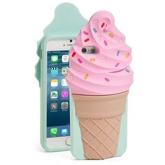 kate spade new york 'ice cream' iPhone 6 & 6s case ($45) ❤ liked on Polyvore featuring accessories, tech accessories, pink multi and kate spade