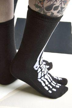 Skeleton Tabi Socks - Sock Dreams - Unique Colorful Socks