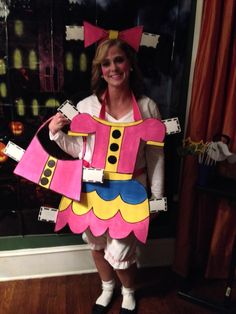 Paper Doll Halloween Costume I made