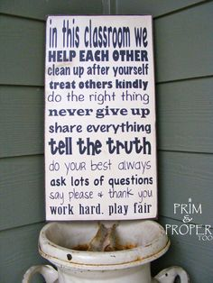 In Our Classroom sign by PrimandProperToo on Etsy, $22.00