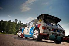 Juha Kankkunen's Peugeot 205 T16.
