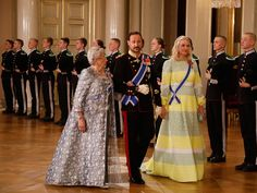The Norwegian Royal Family hosted gala dinner for The President of Iceland Mar 2017