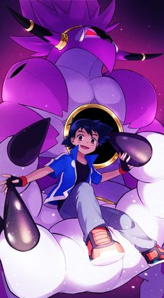 Satoshi y hoopa Solgaleo Pokemon, Pokemon Movies, Satoshi Pokemon, Pokemon Ash Ketchum, Cute Pokemon Wallpaper, Mundo Comic, Original Pokemon, Fanart, Pokemon Pictures