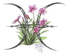Image result for gemini flower tattoo