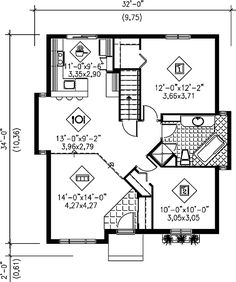 - 80392PM   1st Floor Master Suite, CAD Available, Canadian, Metric, Narrow Lot, PDF, Traditional   Architectural Designs